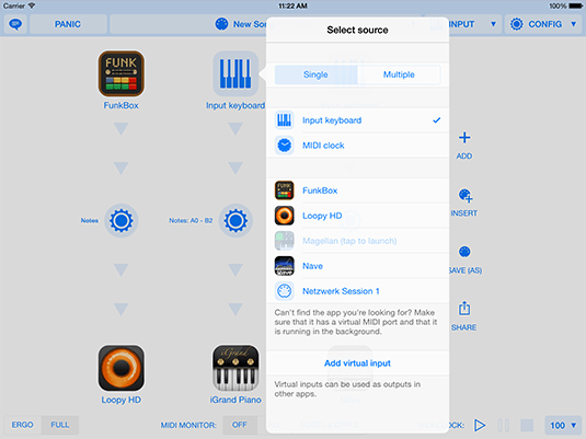 MIDI Router and Processor for iOS